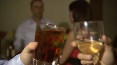Drinks Being Cheered at a Party Stock Footage