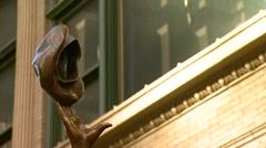 Mary Tyler Moore Statue in Minneapolis, Minnesota - stock footage