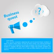 Flat vector illustration for Business quest - stock illustration