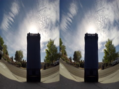 3D timelapse trashcan outside Stock Footage