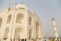 Ornate shah jahan mosque and tower, agra, india Stock Photos