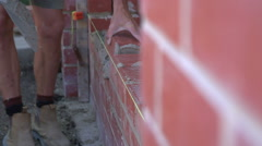 Brick Layer Stock Footage