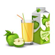 Apple juice set Stock Illustration