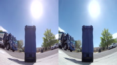 3D recycling truck dump Stock Footage