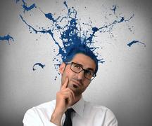 creative businessman - stock illustration