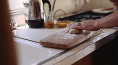 Pie Making Sequence Stock Footage