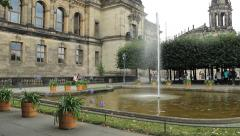 Dresden, Germany - fountain in the old town Stock Footage
