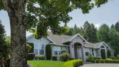 Suburban Home Slider Shot Stock Footage