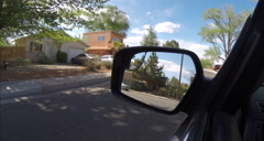 2D mirror while driving Stock Footage