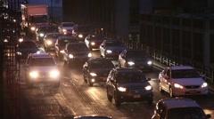 BQE traffic evening commute Stock Footage