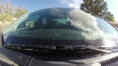 2012 ford fusion 2D windsheild reflections Stock Footage