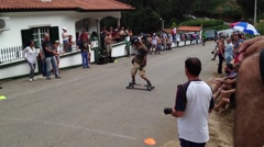 Skateboard rider during the 2nd Newton's Force Festival 2014. Stock Footage
