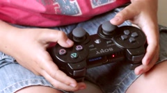 Close View PS3 Remote Stock Footage