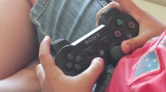 Sony Playstation remote, close view Stock Footage