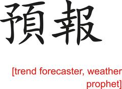 Chinese Sign for trend forecaster, weather prophet Stock Illustration