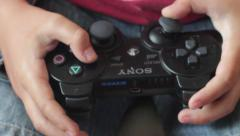 Sony Playstation Remote , Close View Stock Footage