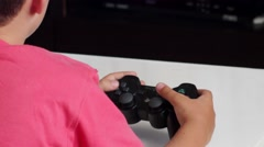 Young Boy Playing PS3 Stock Footage