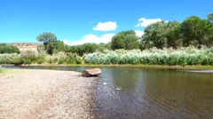 Blue Sky, Rippling Water, Carson River Stock Footage