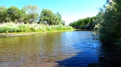 The Carson River at Carson City NV Stock Footage