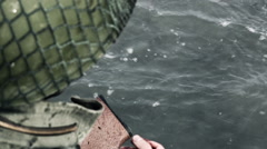 Soldier raising his bloody hand Stock Footage