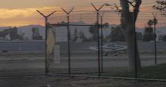 Single engine plane take off Stock Footage