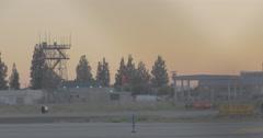 Airport runway light Stock Footage