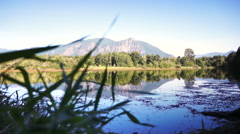 Mountain reflection Stock Footage