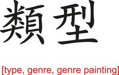 Chinese Sign for type, genre, genre painting Stock Illustration