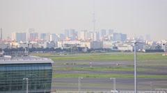 Tokyo International Airport, Tokyo, Japan Stock Footage