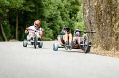 Stock Photo of pedro castro driving a side trike during the 2nd newton's force festival 2014