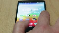 Stock Video Footage of Hands on a Android Smartphone