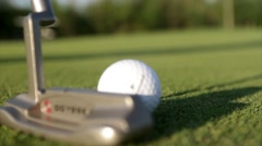 Close up putt on golf green Stock Footage