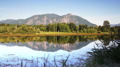 Mountain reflection Stock Footage