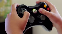 Hands Playing Xbox - stock footage