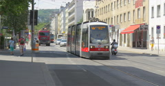 VIENNA - JULY 16: Thaliastrasse is one of the main streets in Vienna Stock Footage