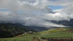 Tungurahua volcano erupting, medium distance shot, Ecuador Stock Footage