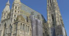 VIENNA - JULY 16: St. Stephan's Cathedral (Stephansdom) - stock footage