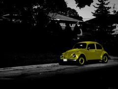 Yellow Volkswagen Stock Photos