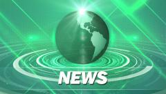 Green abstract for news background Stock Footage