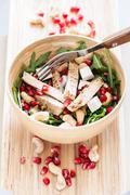 Delicious rucola salad with turkey Stock Photos