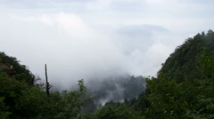 Timelapse of the mist and woods in Mount Emei 4K Stock Footage