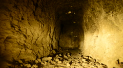 Dolly Pan of Abandon Gold Silver Mine at Night - stock footage