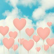 hearts sign post. - stock illustration