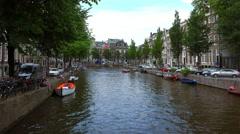 Gentlemen canal in Amsterdam called Herengracht - stock footage