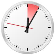 timer with 5 (five) minutes - stock illustration