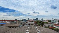 Two way cloud over the city Stock Footage