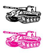 Army tank Stock Illustration