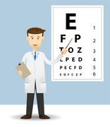 Male ophthalmologist - stock illustration