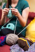 Do it yourself knitting Stock Photos