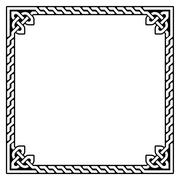 Celtic frame, border pattern - vector Stock Illustration